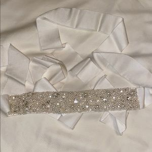 Ivory beaded wedding dress belt. Never worn.